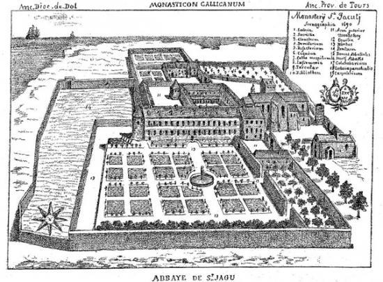 Abbaye de saint jacut de la mer 1690