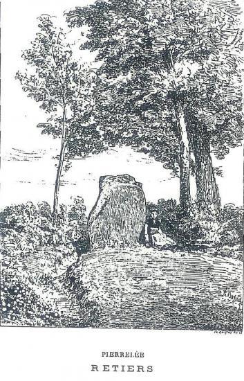 Retiers menhir disparu de pierrelet